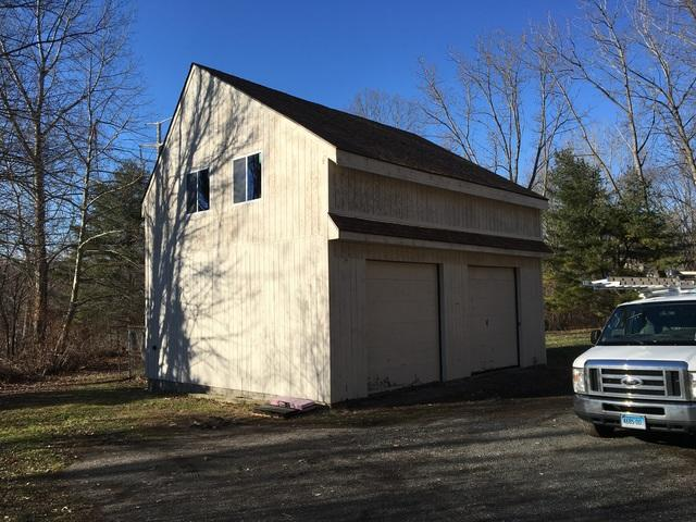 Garage Roof Reconstruction in Brookfield, Connecticut