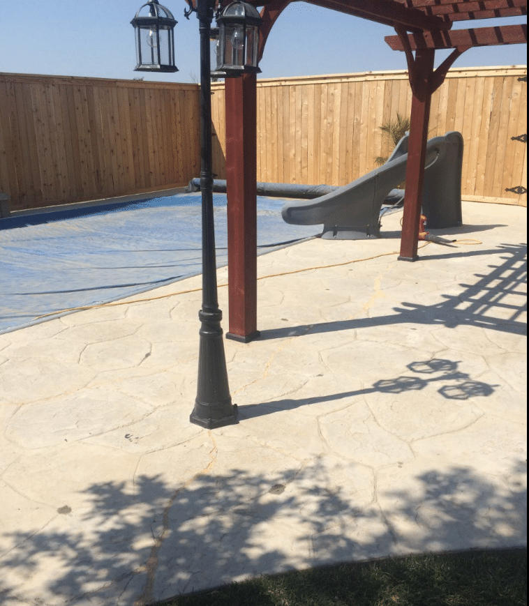 Repairing a Cracked Patio and Pool Deck in Amarillo, TX - After Photo