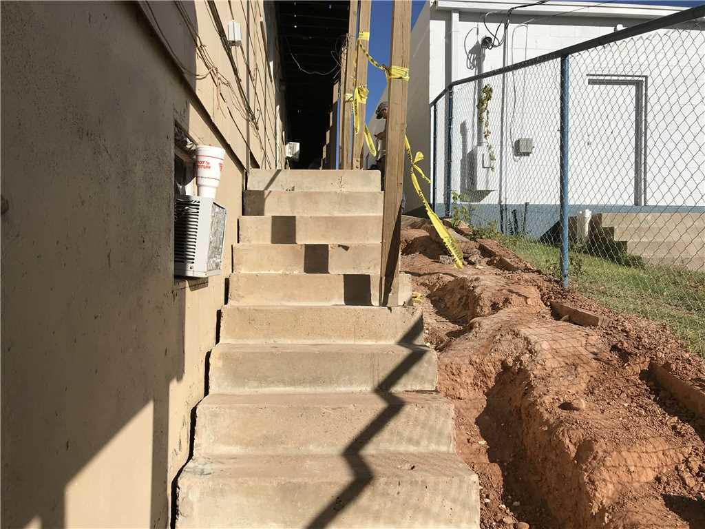 Lift Concrete Steps at an Apartment Complex in Borger, TX - After Photo