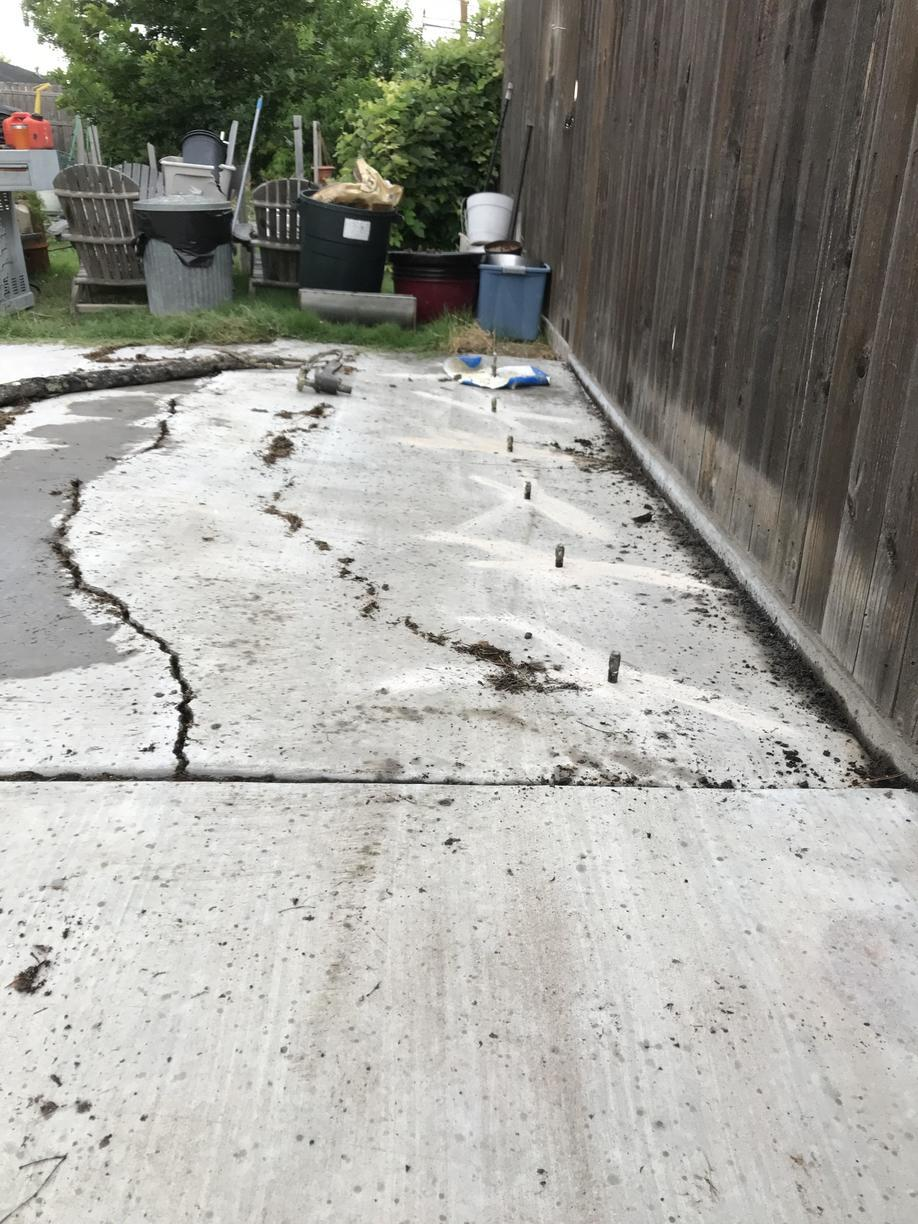 Repairing a Patio in Borger, TX - Before Photo