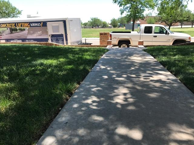 Lift Sinking Sidewalks in Windsor Neighborhood, Amarillo, TX