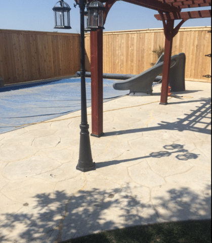 Repairing a Cracked Patio and Pool Deck in Amarillo, TX