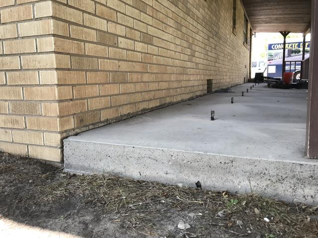 Repairing a Concrete Porch in Silverton, TX - Before Photo