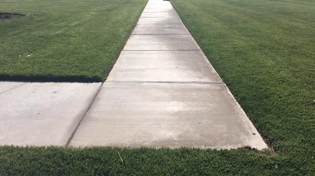 Concrete Repair for Sunken Sidewalk in Bushland, TX