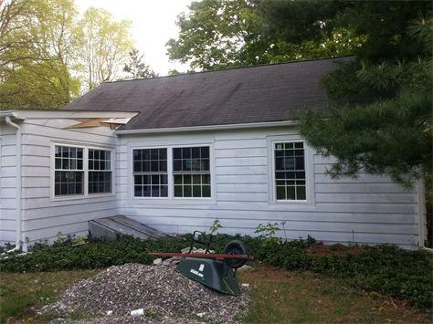 Siding Replacement - Before Photo