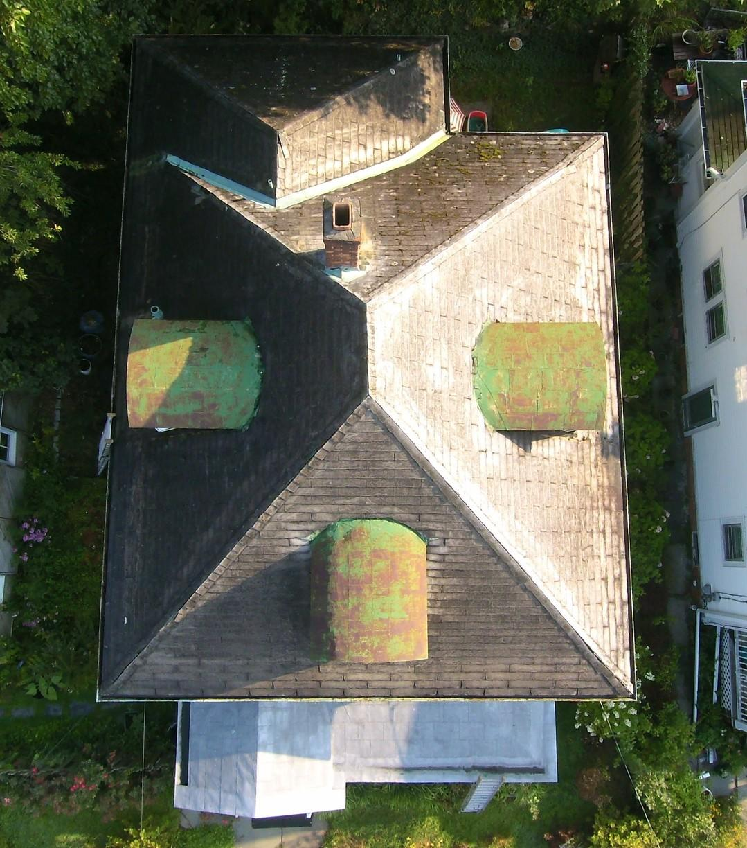 Roof Replacement in Kingston, NY - Before Photo