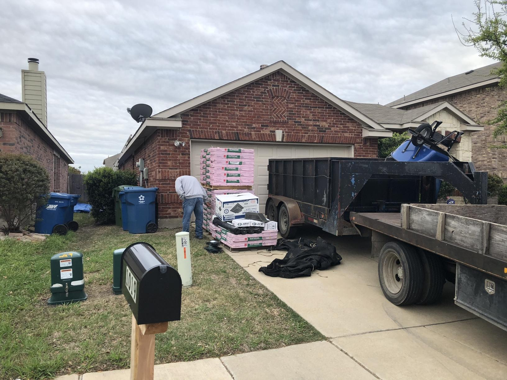 Roof Replacement in Forney, TX - Before Photo