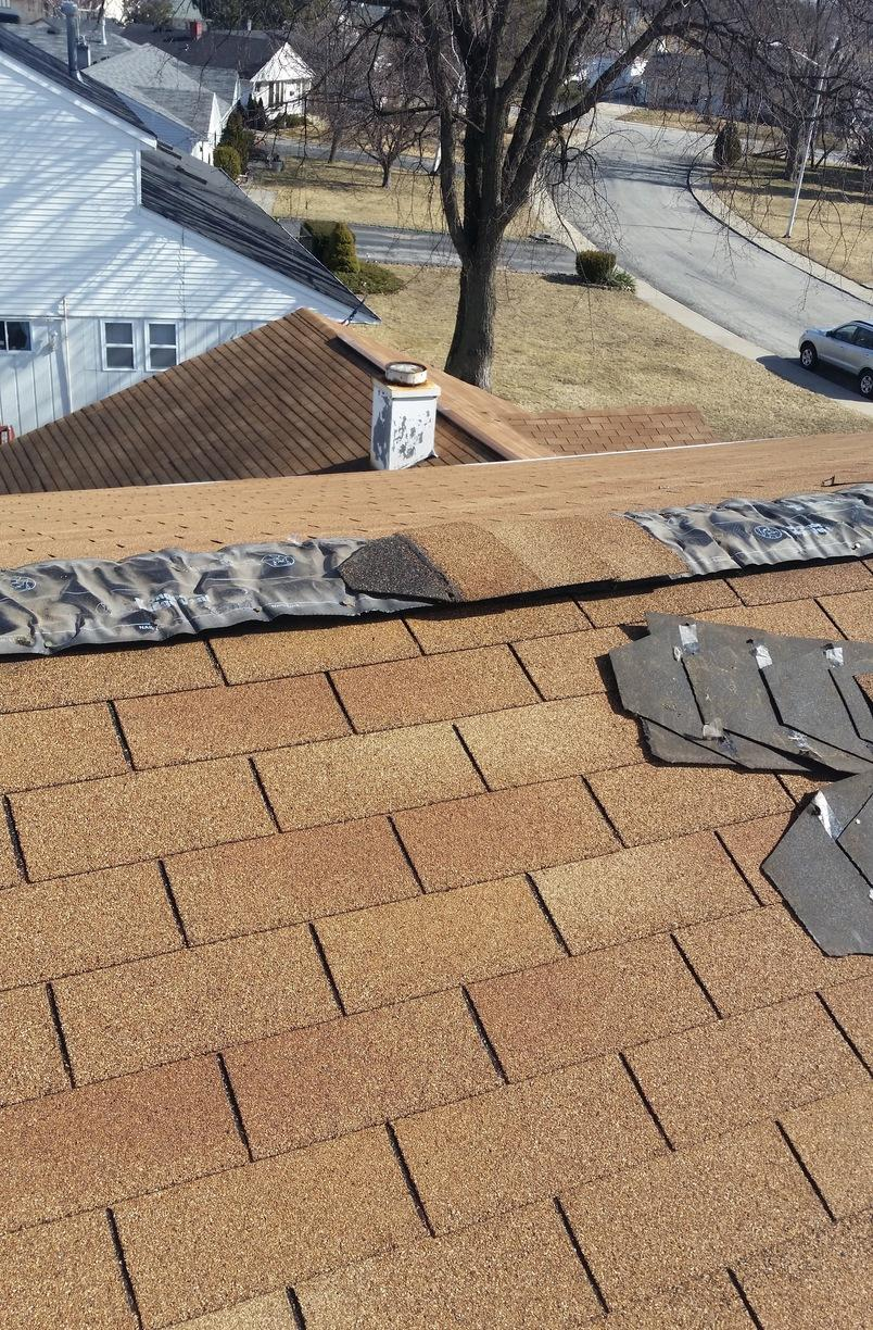 Roofing Shingle Repair in Hometown IL - Before Photo