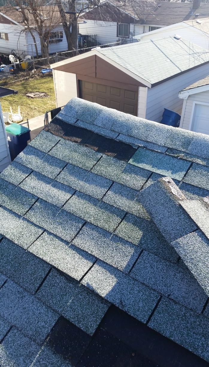 Roof Shingle Repair in Hometown IL - Before Photo