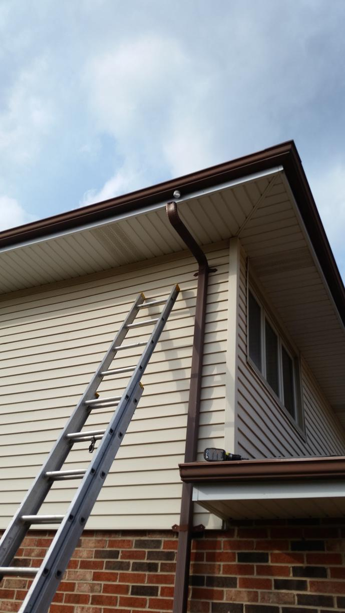 Gutter Repair in Orland Park - Before Photo
