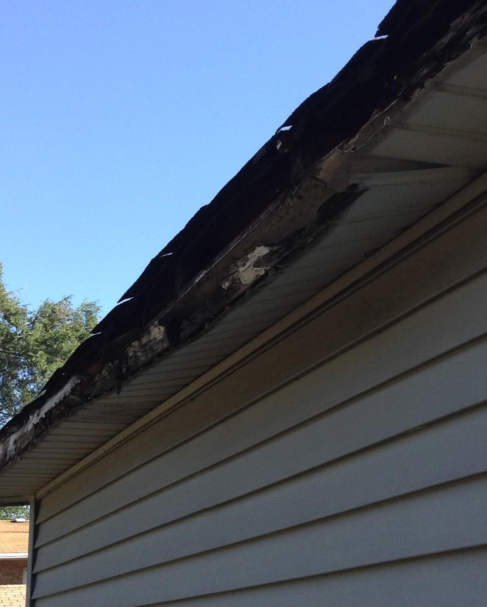 Soffit and Fascia Replacement - Before Photo