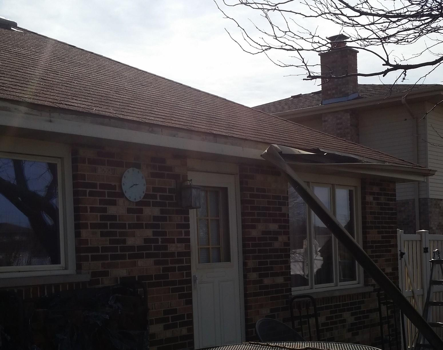 Gutter Repair in Tinley Park, IL - Before Photo
