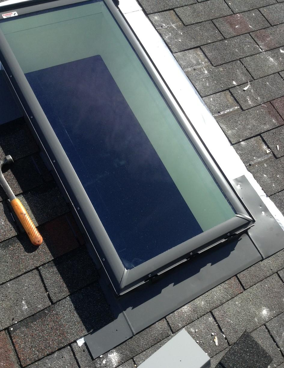 Frankfort,  IL, Skylight replacement - Before Photo