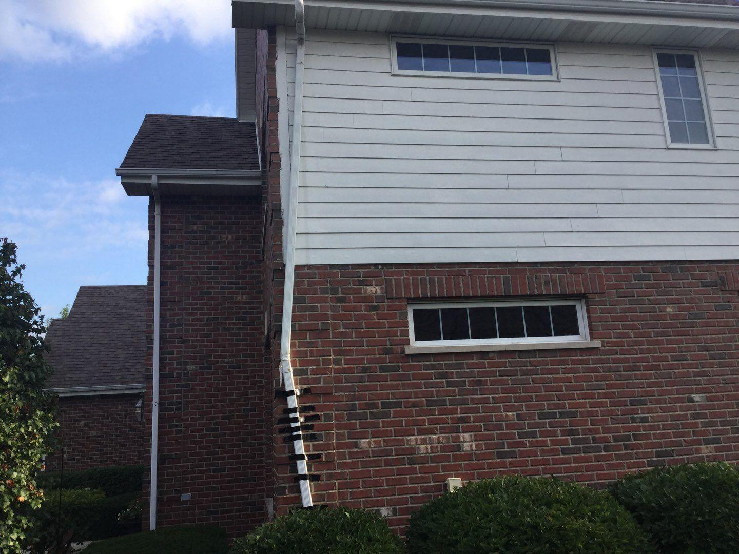 Gutter replacement in Orland Park, IL - Before Photo