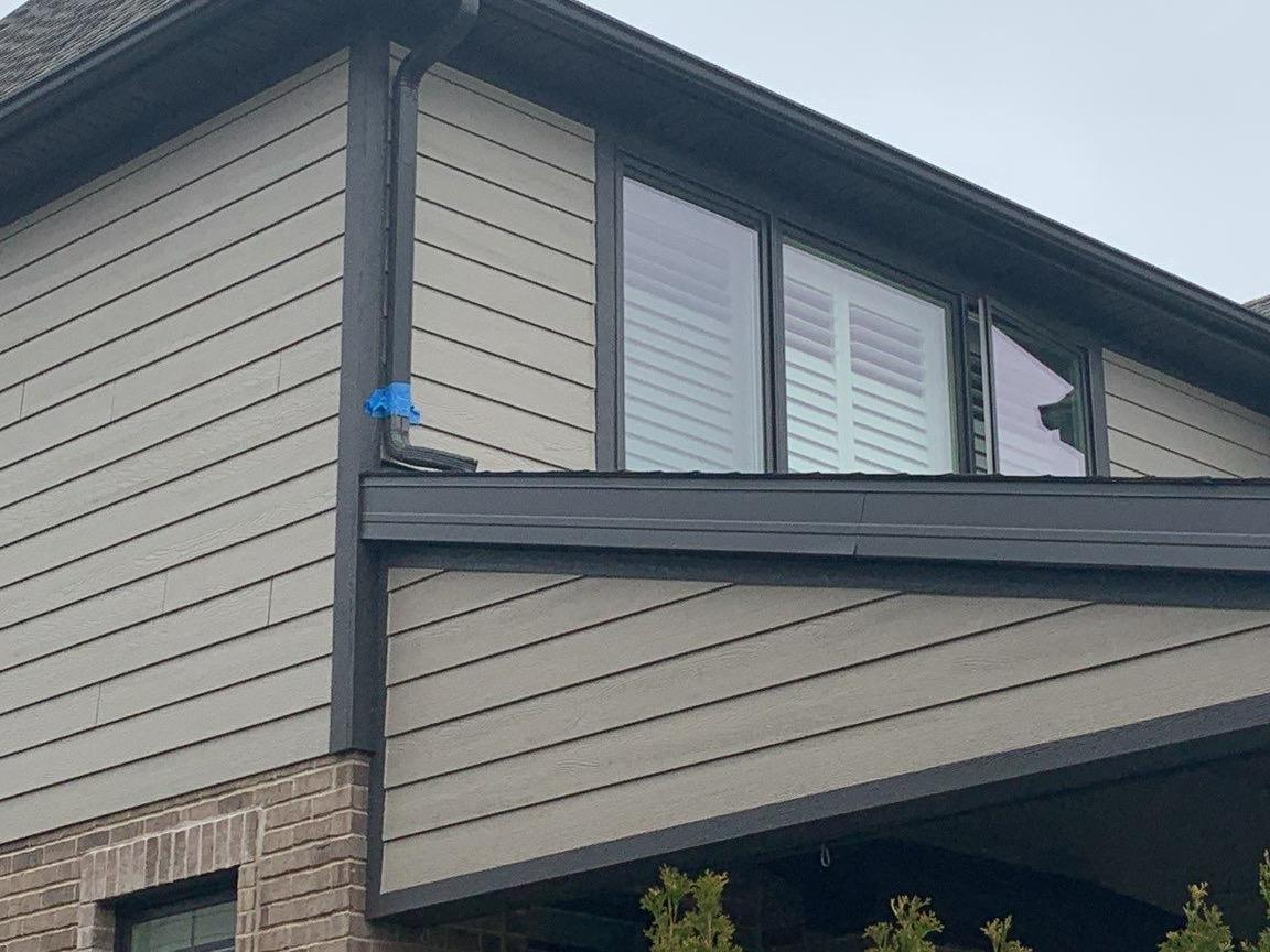 Downspout repair in Orland Park, IL - Before Photo