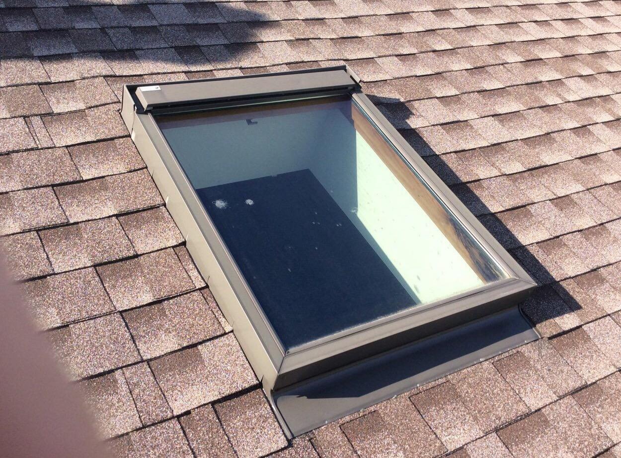 Velux Solar Powered Skylights in Tinley Park, IL - Before Photo