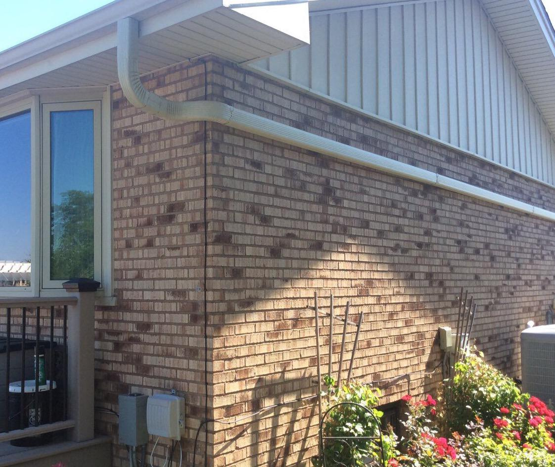 Downspout repair in Tinley Park, IL - After Photo