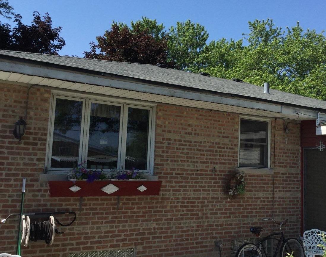 New gutter install in Oak Lawn, IL - Before Photo
