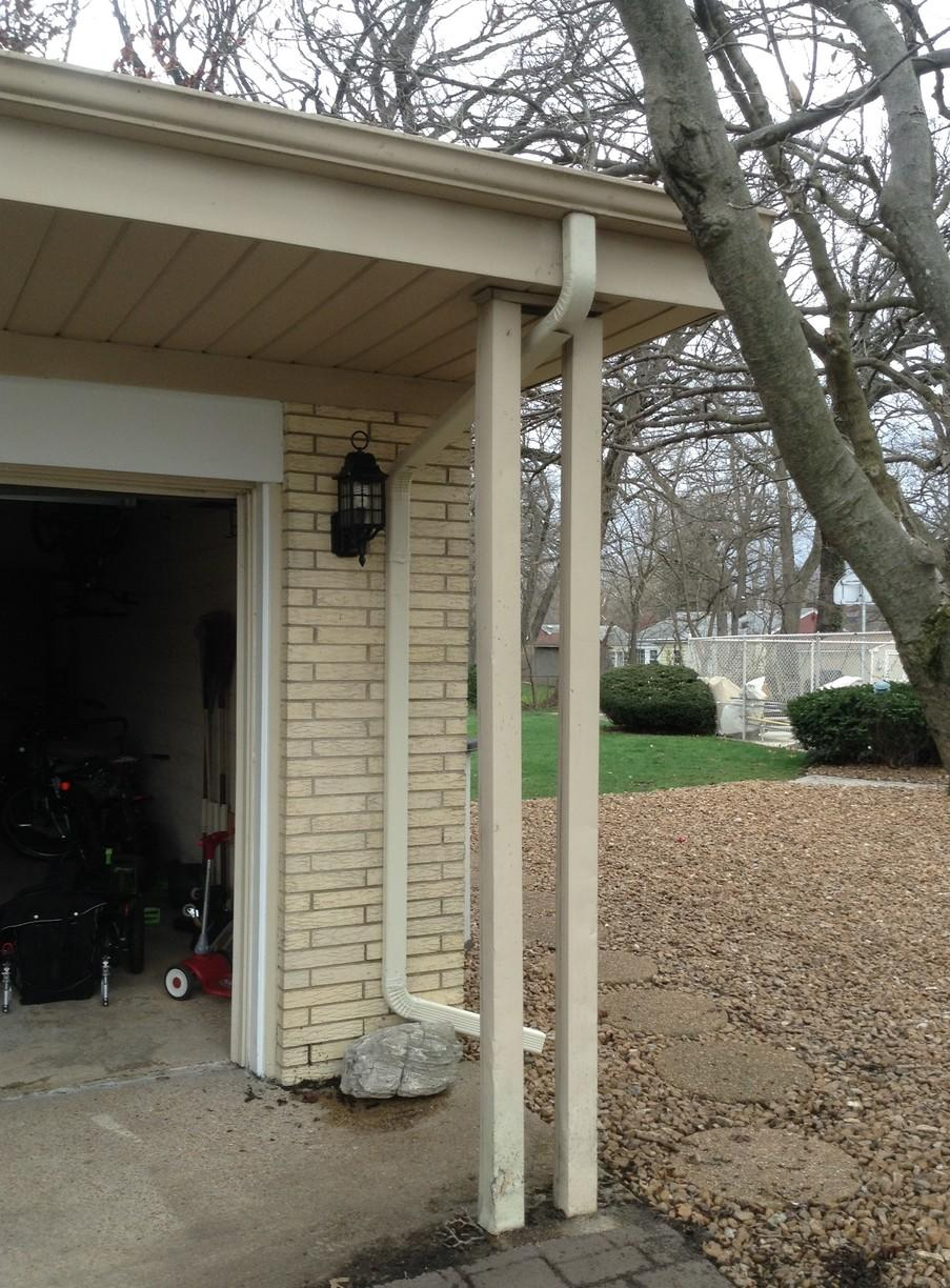 Gutter Repair Project in Palos Heights - Before Photo