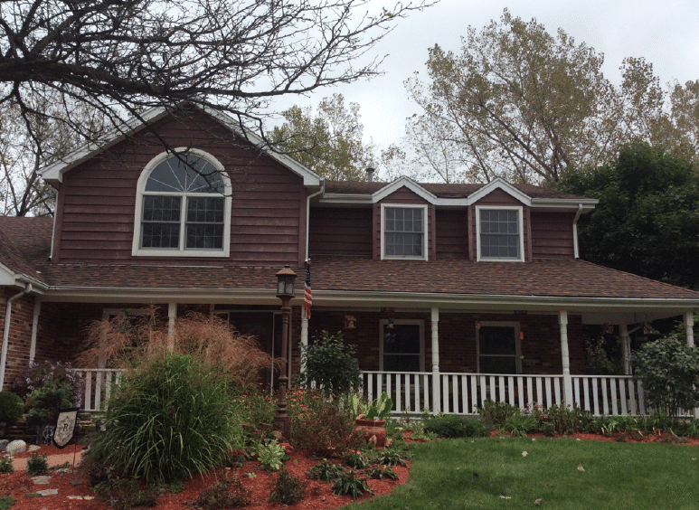 Siding, Roof Replacement, & Velux Skylight project in Orland Park IL - Before Photo