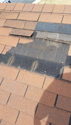 Roofing repair in Hometown IL - Before Photo