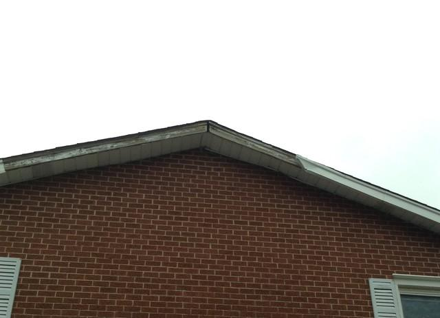 Crestwood, IL Fascia Replacement - Before Photo