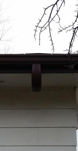 Palos Heights, IL Downspout installation - Before Photo