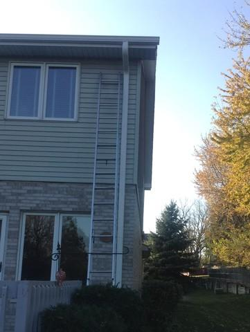 Downspouts Replaced in Orland Park, IL - Before Photo