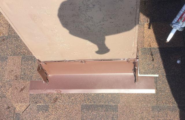Chimney Flashing Leak Repair in Hometown, IL - Before Photo