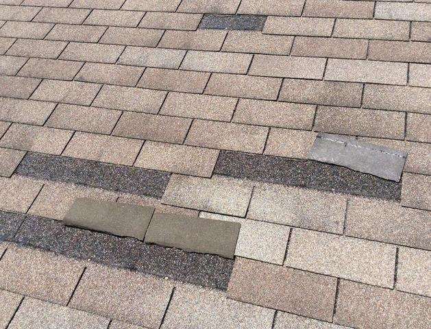 Missing shingles in Lockport, IL