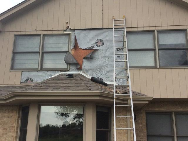 Rotted wood siding repair in Woodridge, IL