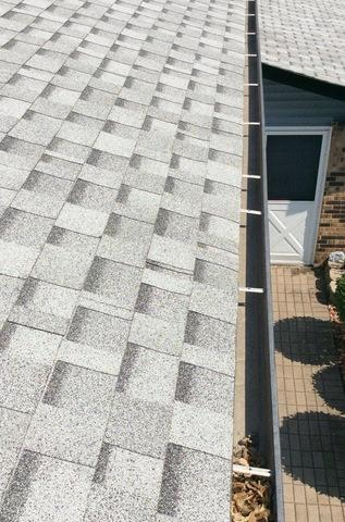 Gutter guards in Orland Park, IL - Before Photo