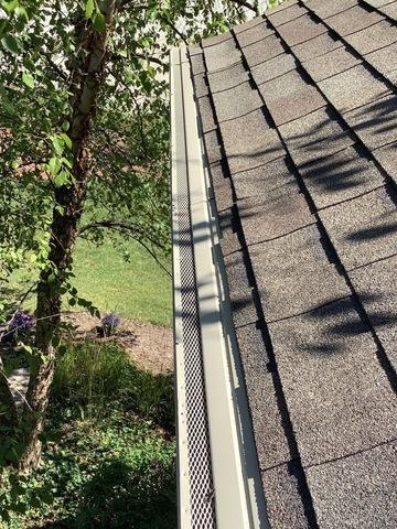 Installation of gutter guards in Frankfort, IL