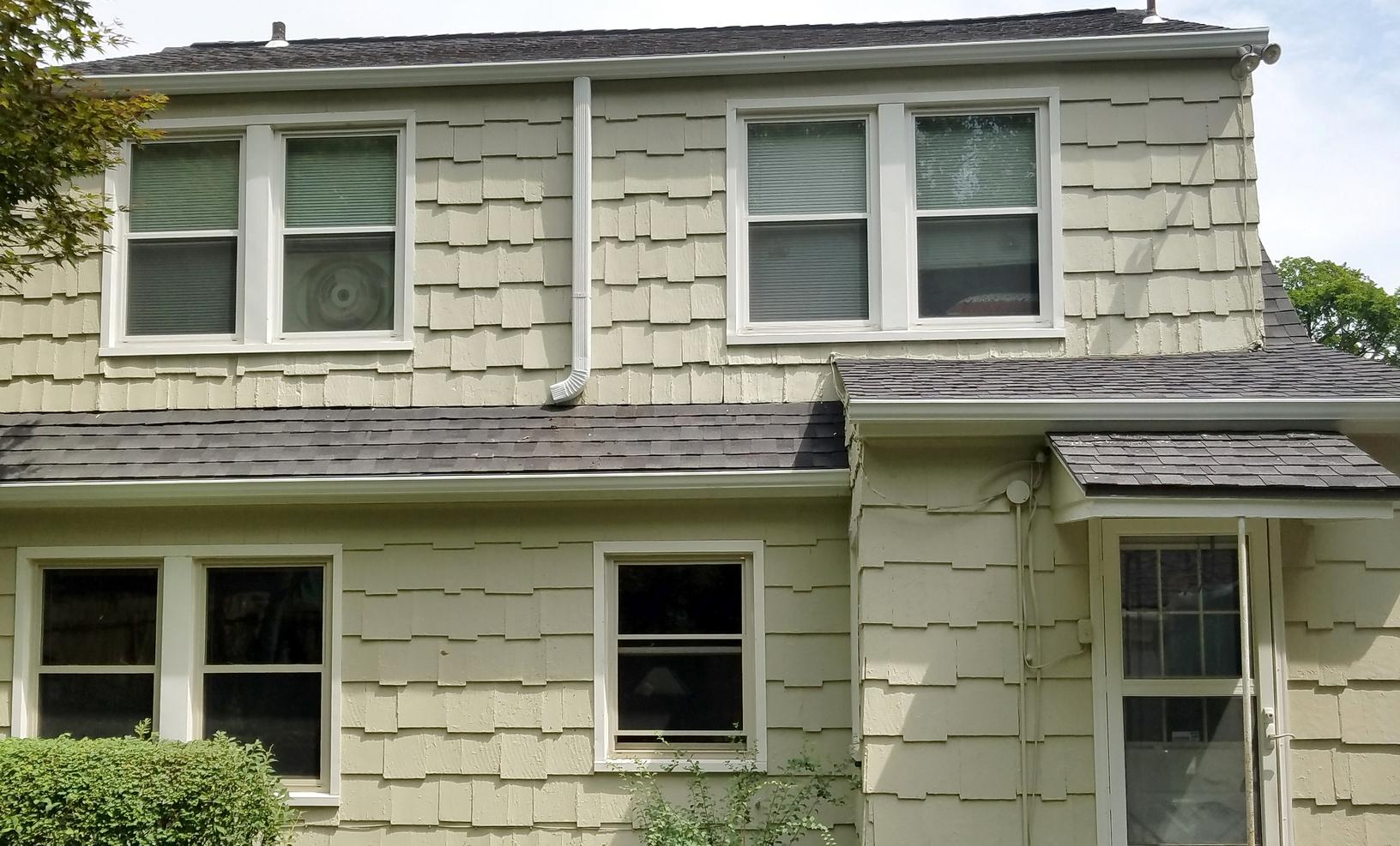 Kansas City, MO Home with New Aluminum Seamless Gutters - After Photo
