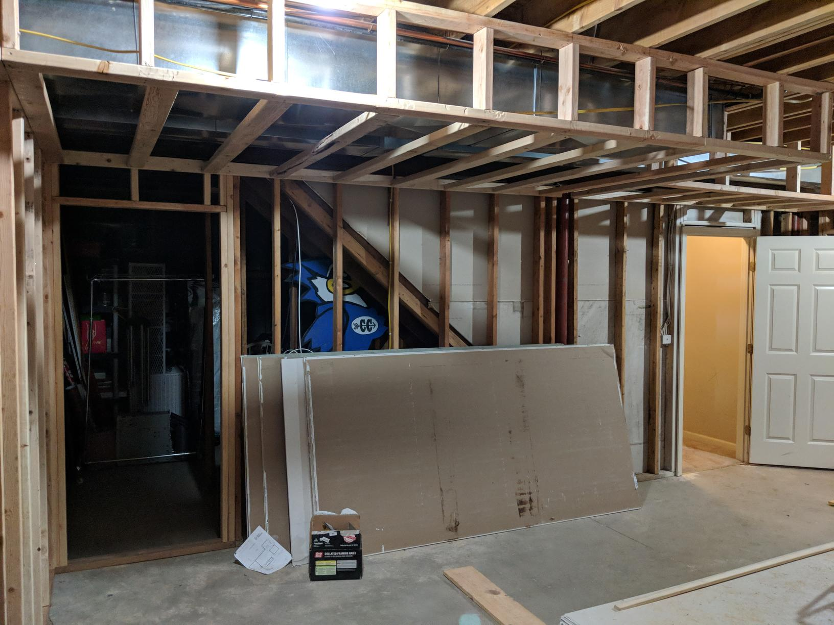 Basement Remodel with Wet Bar in Kansas City, MO - Before Photo