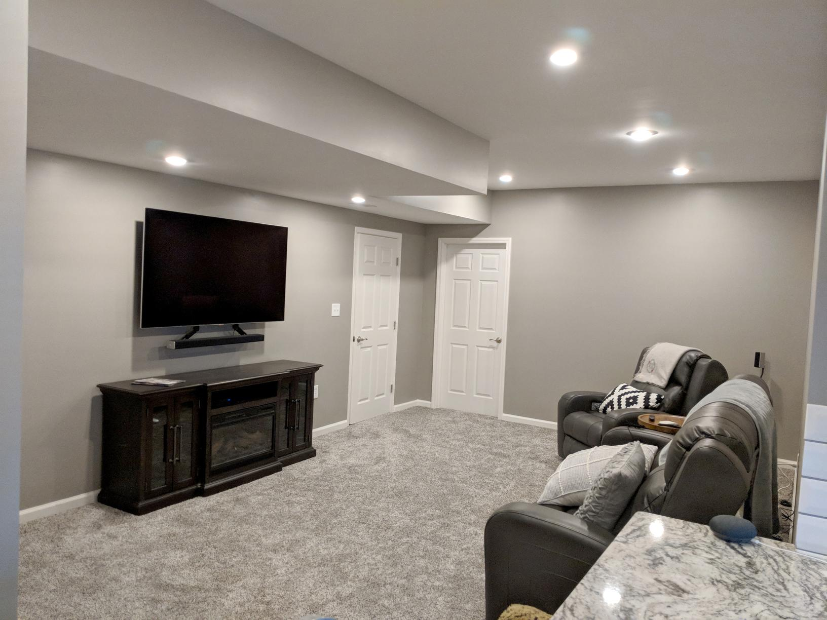 Basement Remodel with Wet Bar in Kansas City, MO - After Photo