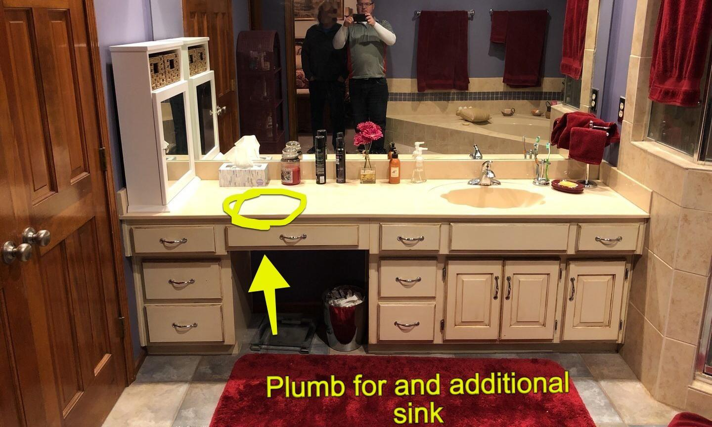 Lee's Summit Home Gets a Double Sink and Quartz Vanity Top - Before Photo
