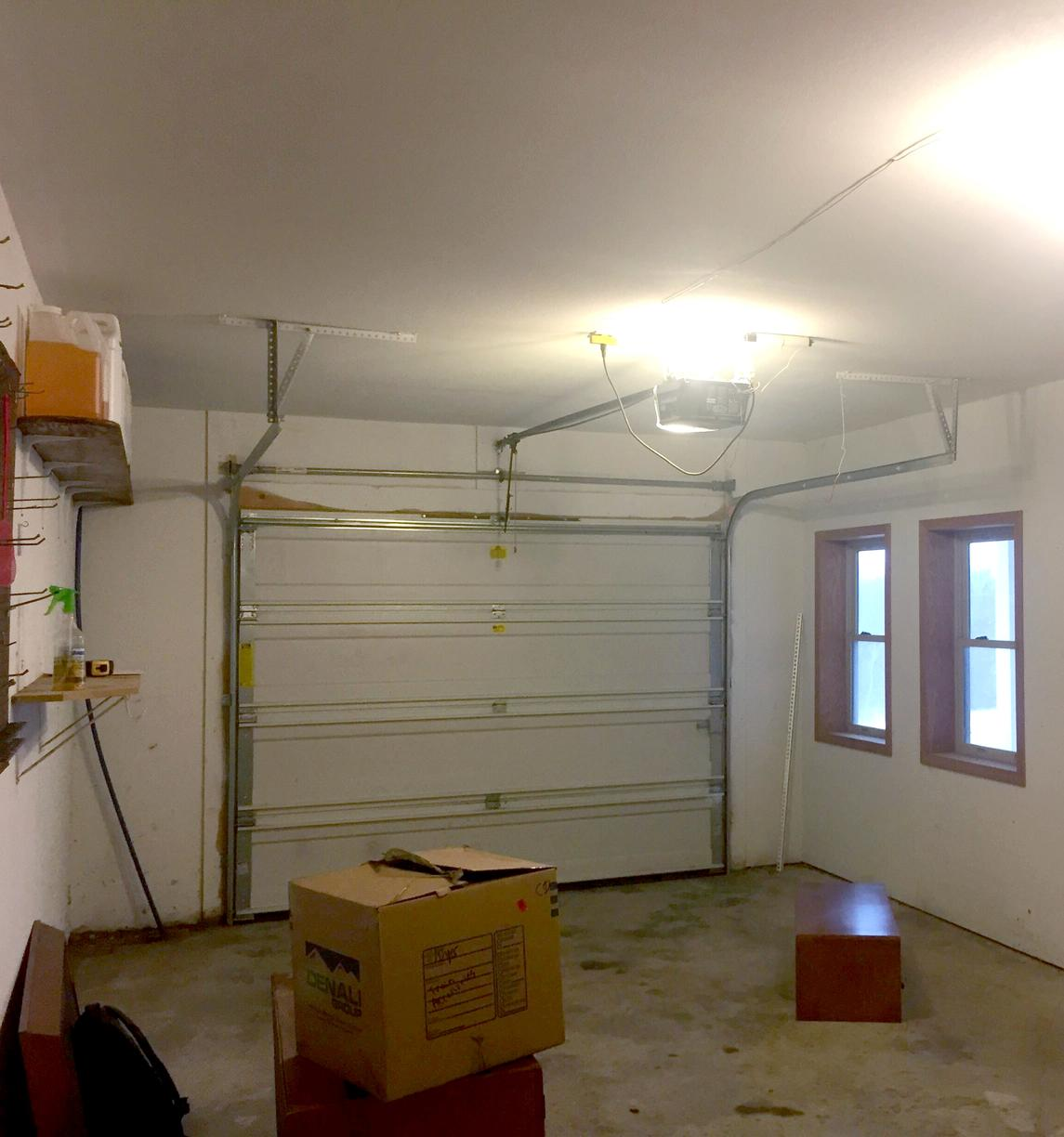 Garage Remodel to a Bedroom in Oskaloosa, KS - Before Photo