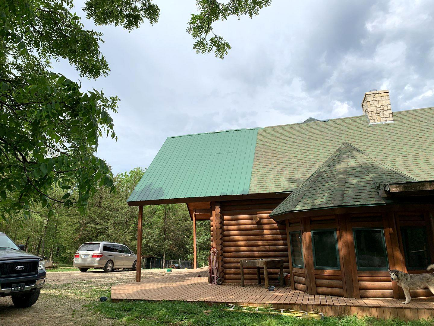 New Roof Installed at Home in Ottawa, KS - Before Photo
