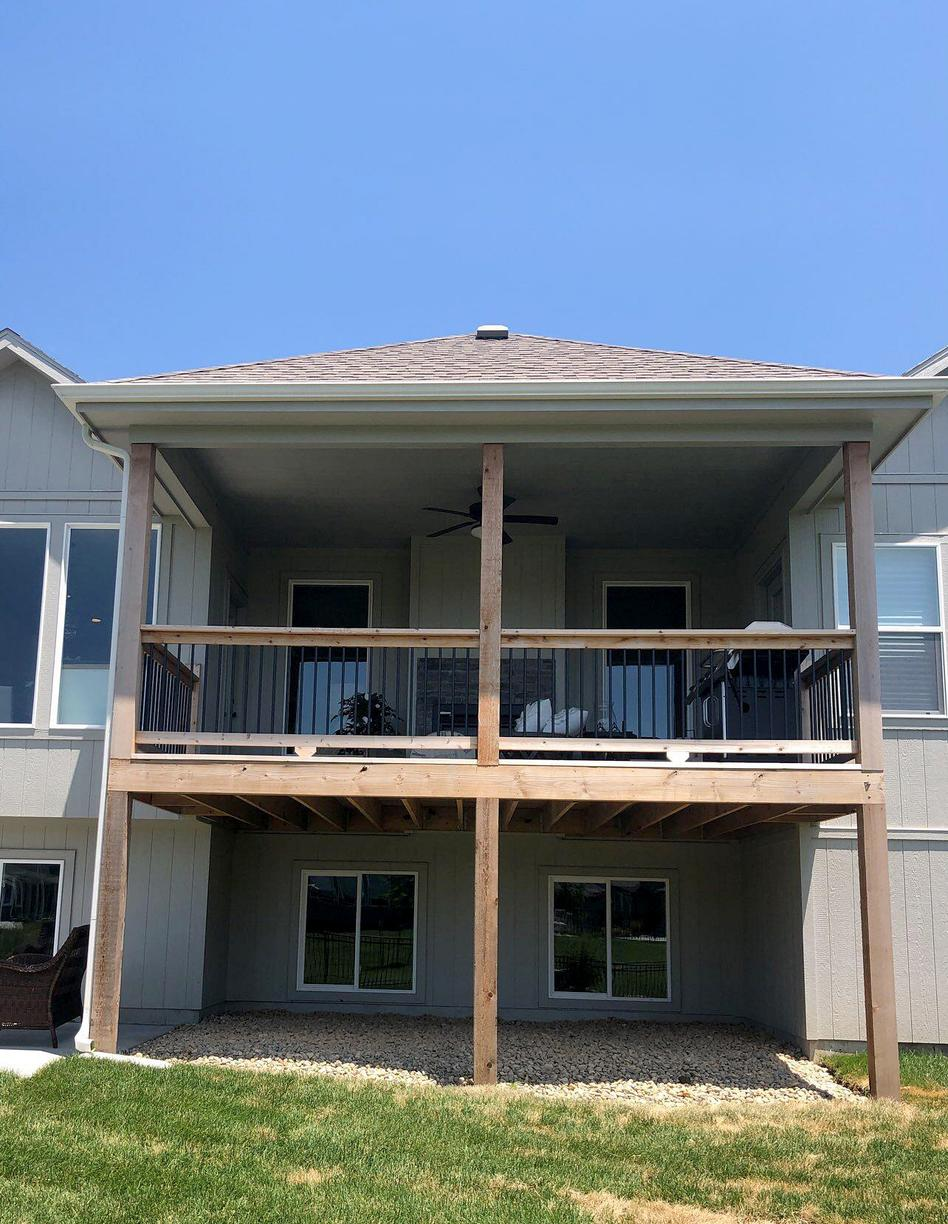 Stained Deck at Olathe, KS Home - Before Photo