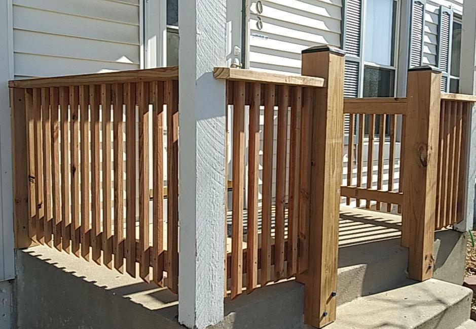 Home in Olathe, KS gets New Cedar Wood Porch - After Photo
