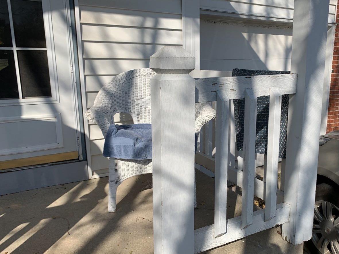 Home in Olathe, KS gets New Cedar Wood Porch - Before Photo