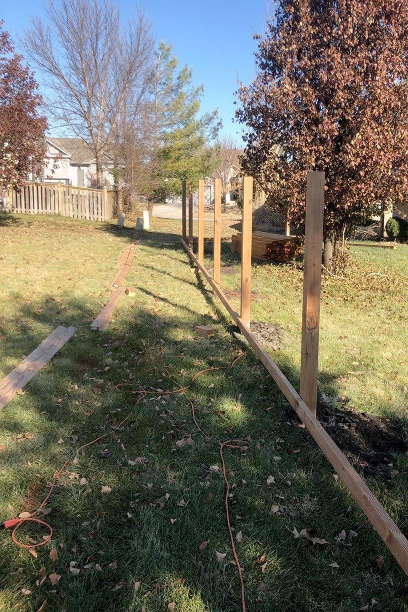 Gardner, KS Home gets New Privacy Fence - Before Photo