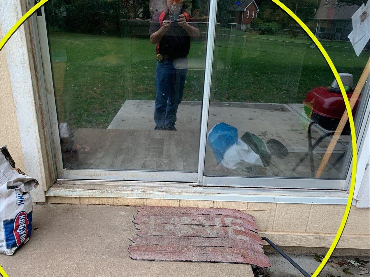 Patio Slider Door Installed in Blue Springs, MO - Before Photo