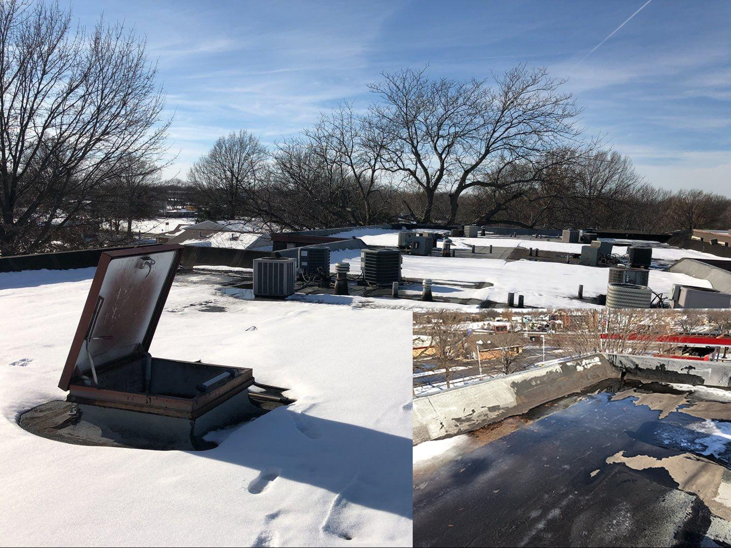 Commercial Roofing Completed at Stoneybrook Apartments in Grandview, MO - Before Photo