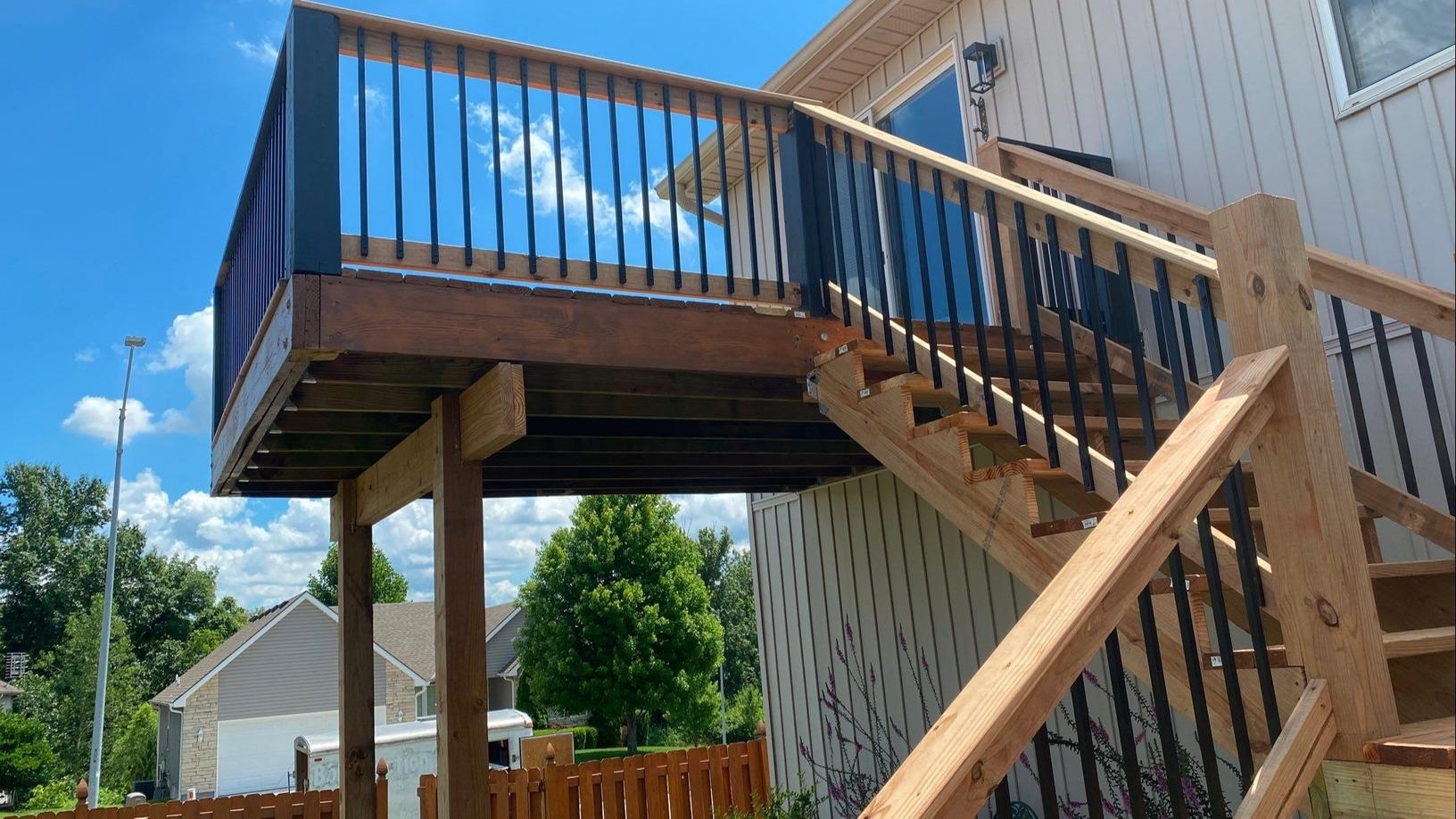 Deck Stairs added to the Existing Deck in Independence, MO - After Photo