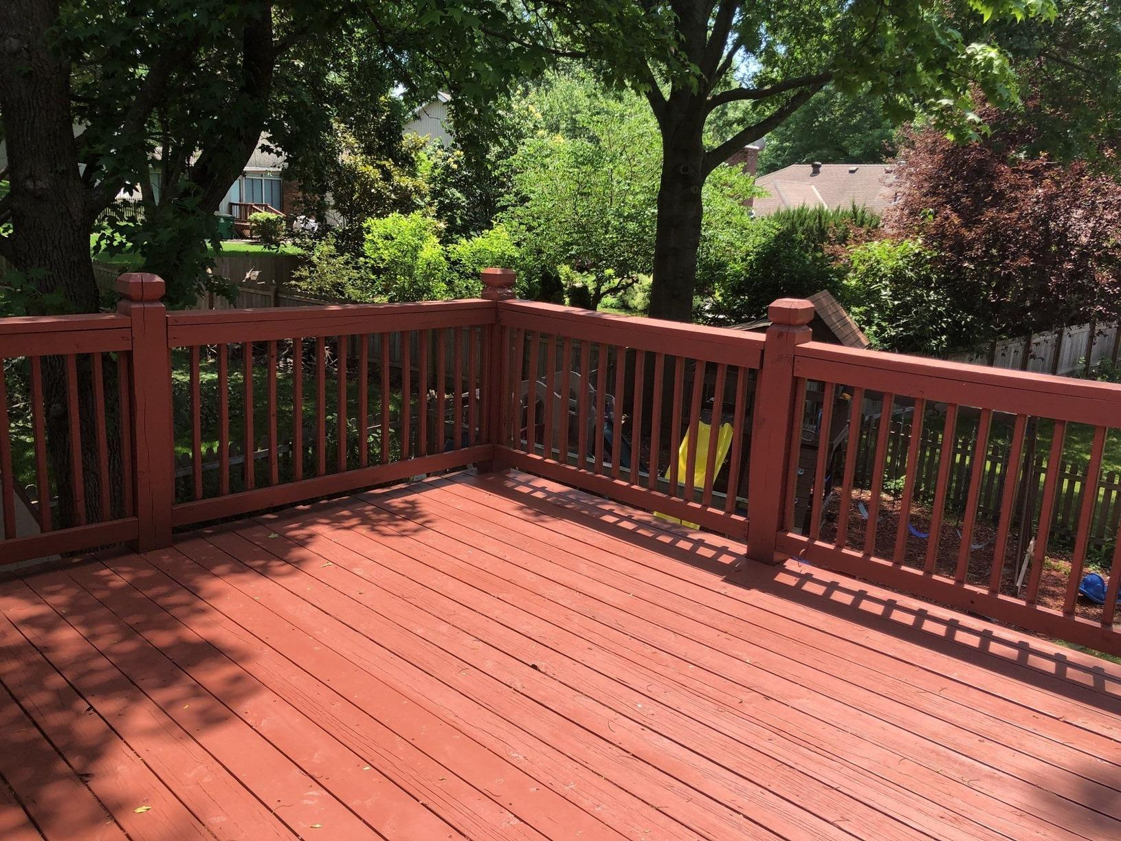 Rebuilt Deck with New Piers, Posts and Stairs in Lee's Summit, MO - After Photo