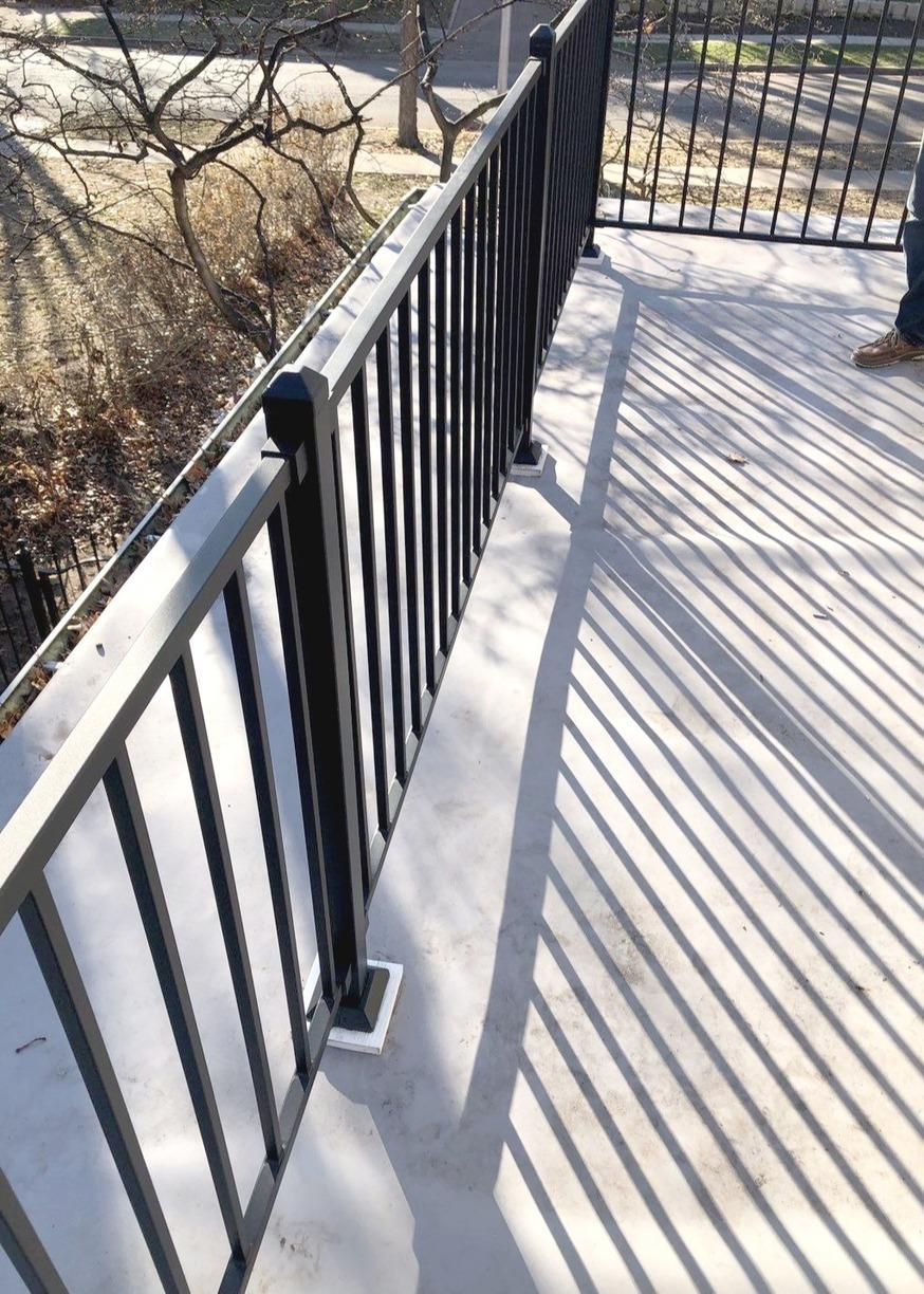 Railings & Posts on Balcony Installed on Kansas City, MO Home - After Photo