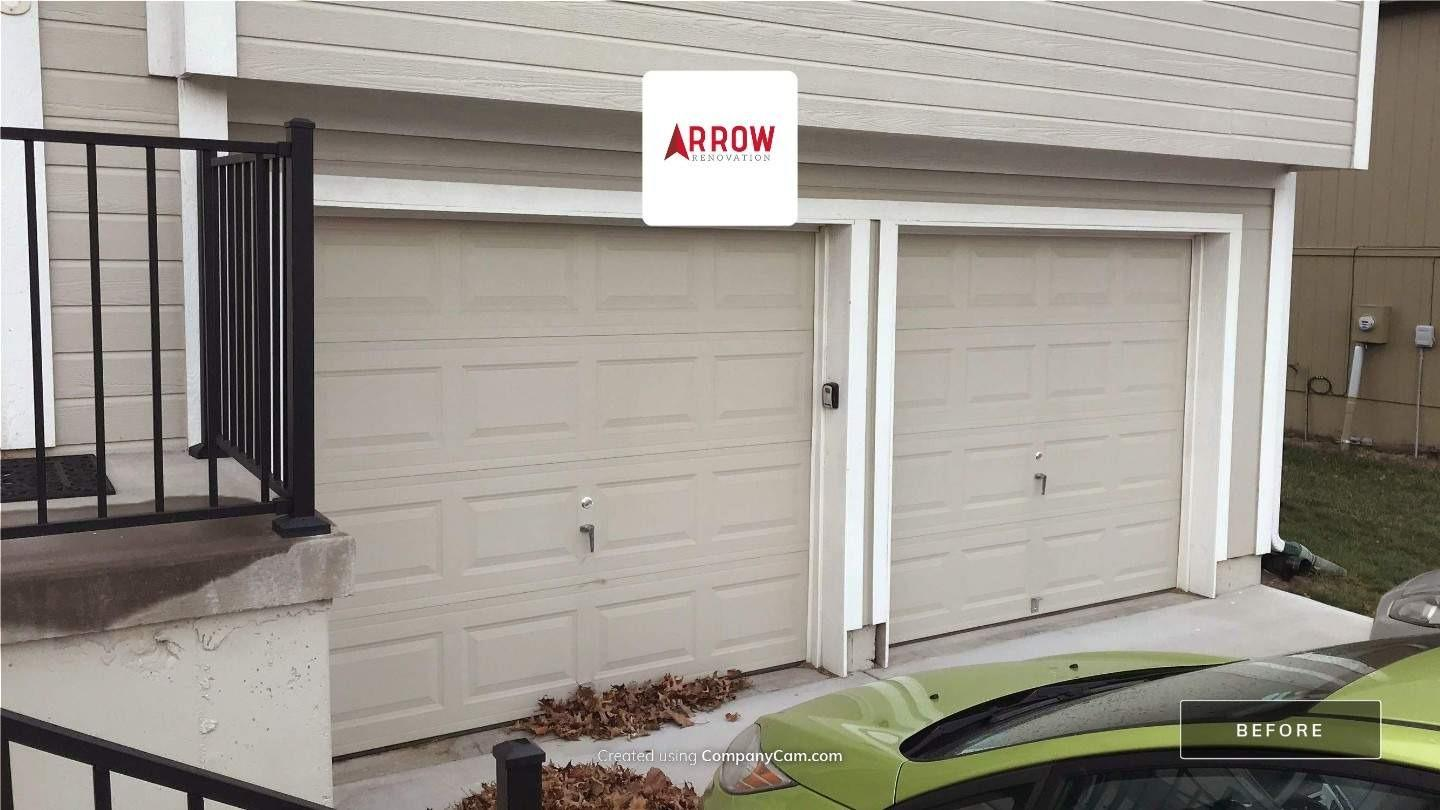 Garage Remodeled Into a Living Space at a Home in Raytown, MO - Before Photo