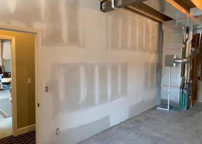 Drywall Installed in the Basement of a Home in Riverside, MO - After Photo